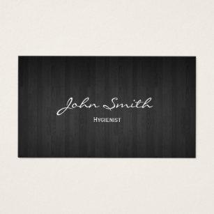 Dental hygiene business cards templates zazzle dental classy dark wood hygienist business card colourmoves Gallery