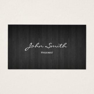 Dental Classy Dark Wood Hygienist Business Card