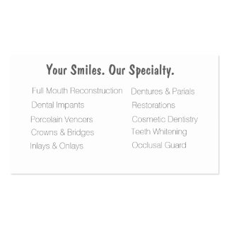Dental Clinic business cards