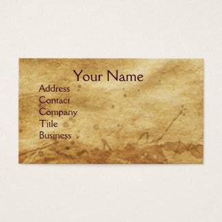 DENTAL CLINIC ,DENTIST MONOGRAM ,Antique Parchment Business Card