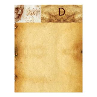 DENTAL CLINIC ,DENTIST MONOGRAM ,Antique Parchment Letterhead