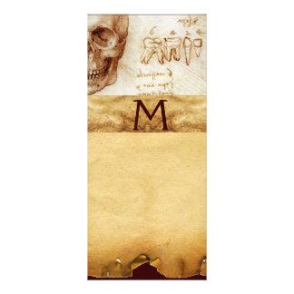 DENTAL CLINIC ,DENTIST MONOGRAM ,Antique Parchment Rack Card