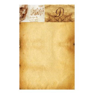 DENTAL CLINIC ,DENTIST MONOGRAM ,Antique Parchment Stationery