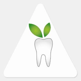Dental cure triangle sticker