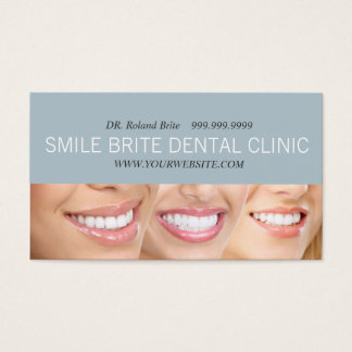 Dental Dentist Dentistry Doctor Teeth Smile Care Business Card