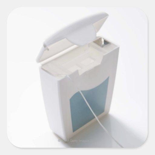 Dental floss square sticker