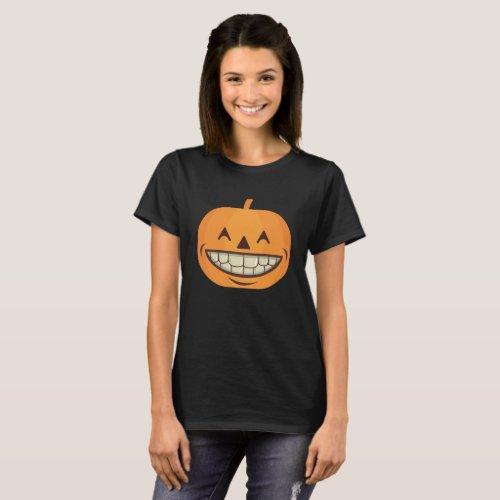 Dental Halloween Shirt Pumpkin with Perfect Teeth