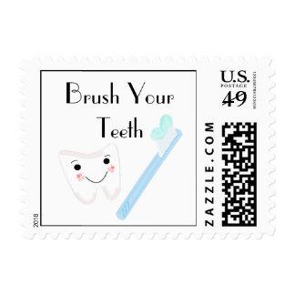 Dental Hygiene - Brush Your Teeth Postage Stamps