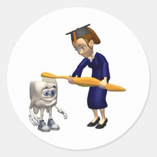 Dental Hygiene or Dentist Graduation Gifts Classic Round Sticker
