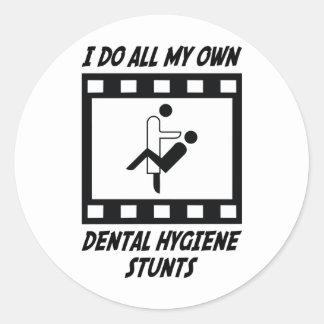 Dental Hygiene Stunts Sticker