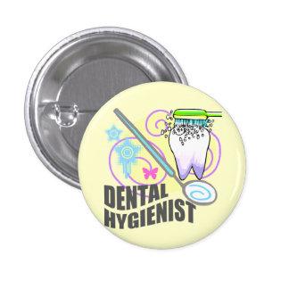 Dental Hygienist 1 Inch Round Button