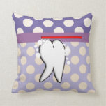 Dental Hygienist Big Tooth Pillow