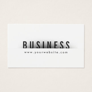 Dental Hygienist Bold Text Minimalism Business Card