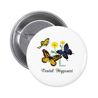 Dental Hygienist Butterflies Button