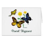 Dental Hygienist Butterflies Greeting Cards