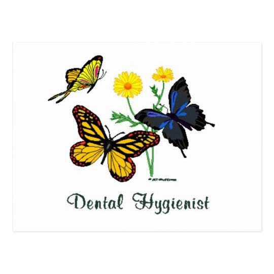 Dental Hygienist Butterflies Postcard