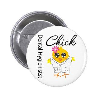 Dental Hygienist Chick Pinback Buttons