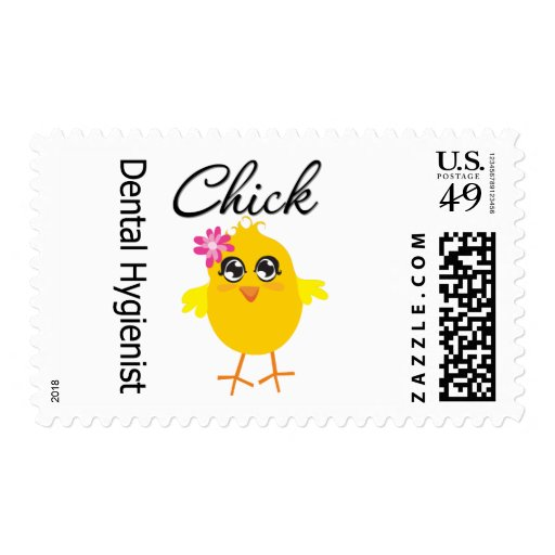 Dental Hygienist Chick v2 Stamp