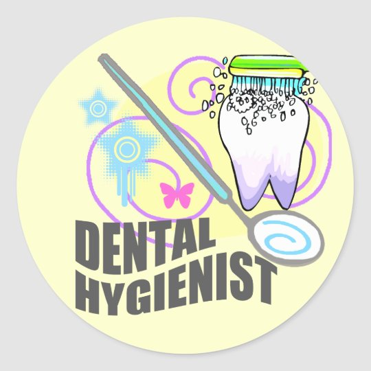 Dental Hygienist Classic Round Sticker
