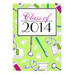 Dental Hygienist / Dental School Graduation Green Personalized Announcements