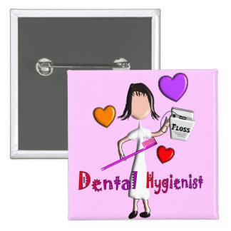 Dental Hygienist Gifts Adorable Hearts Design Pins