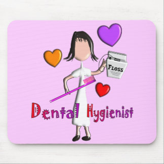 Dental Hygienist Gifts Adorable Hearts Design Mouse Pad