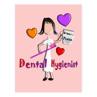 Dental Hygienist Gifts Adorable Hearts Design Postcard