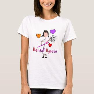 Dental Hygienist Gifts Adorable Hearts Design T-Shirt