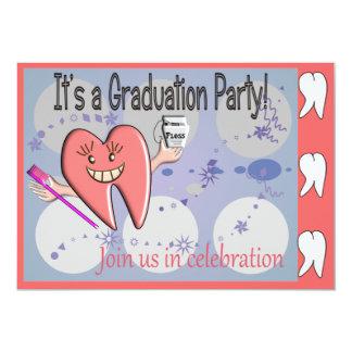 "Dental Hygienist Graduation Invitations 5"" X 7"" Invitation Card"