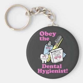 Dental Hygienist Basic Round Button Keychain