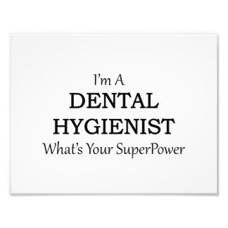 DENTAL HYGIENIST PHOTO PRINT