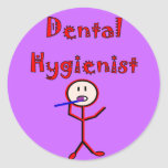Dental Hygienist Stick Person With Toothbrush Sticker