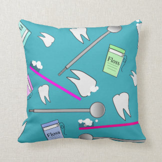 Dental Hygienist Tools Pillow