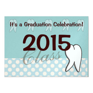 Dental Hygienist Tooth Graduation Invitations