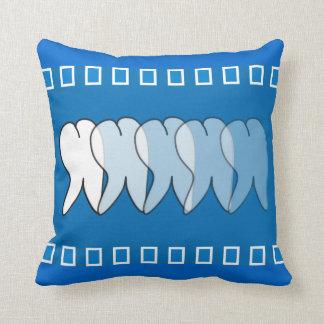 Dental Hygienist  Tooth Pillow Blue