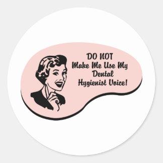 Dental Hygienist Voice Classic Round Sticker