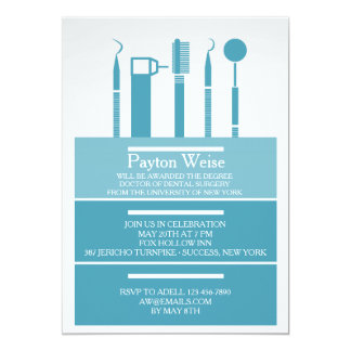 Dental Instruments Graduation Invitation