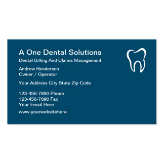 Dental Medical Billing Claims Business Card
