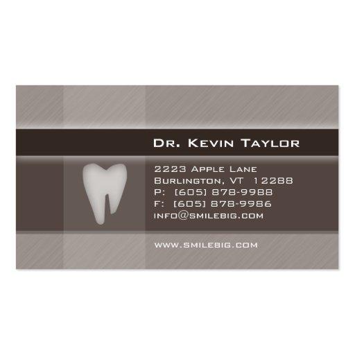 Dental Molar Business Card Denim brown stripes