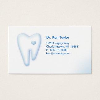Dental Molar Heart Logo Business Card Blue 2