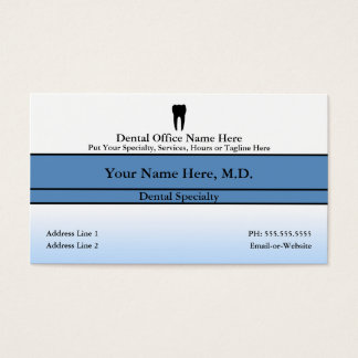 dental office business card