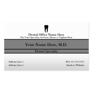 dental office Double-Sided standard business cards (Pack of 100)