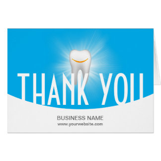 Dental Office Modern Blue Formal Thank You Card
