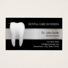 Dental Office Professional Dentist Appointment Business Card at Zazzle
