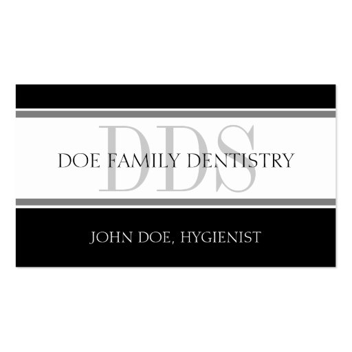Dental Office Stripes DDS - Available Letterhead - Business Card Templates