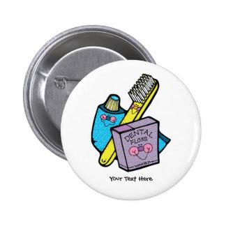 Dental (personalizable) pin redondo de 2 pulgadas