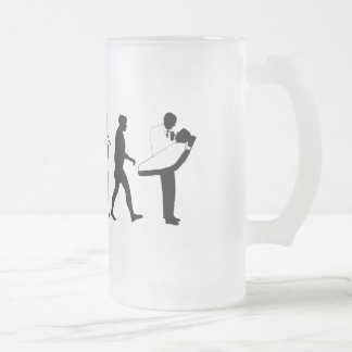 Dental practices and dental surgeons gear frosted glass beer mug