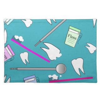 Dental Profession Tools Design Cloth Place Mat
