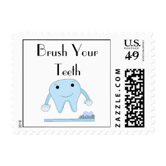 Dental Reminder Brush Your Teeth Stamp