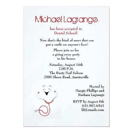 Dental School Acceptance Party Invitation